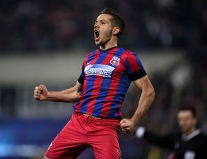 Meciul de fotbal Steaua - Concordia Chiajna, scor 4-0, restanta din etapa 3, liga 1, tur, campionat 2013-2014, desfasurat pe stadionul Ghencea, in Bucuresti. 14.02.2014