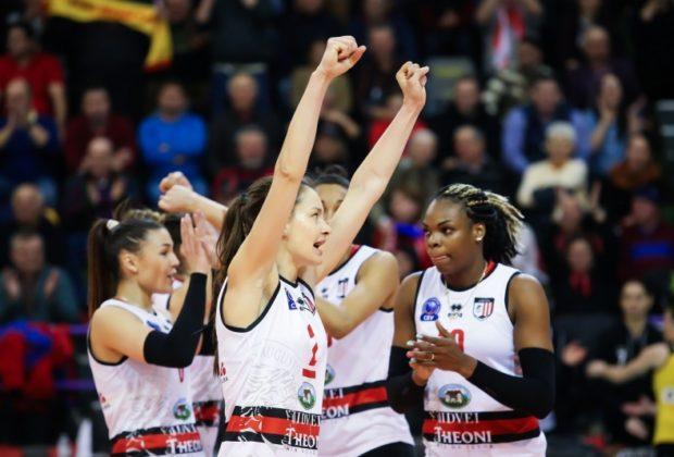 Vicecampioana Europei la volei feminin, Volei Alba Blaj, a fost eliminată în turul al treilea al Ligii Campionilor