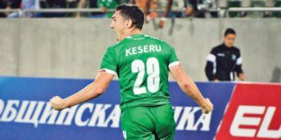 Claudiu Keșeru a reușit să înscrie golul egalizator, pentru Ludogoreţ Razgrad, în partida cu ŢSKA Sofia, în etapa a XVIII-a a campionatului Bulgariei