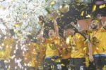 FC Viitorul, ultima calificată în play-off-ul Ligii I, după ce a învins FC Botoşani cu 1-0 şi Poli Iaşi a pierdut meciul cu Hermannstadt