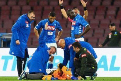 ATENȚIE, IMAGINI ȘOCANTE David Ospina, portarul lui Napoli, era SĂ MOARĂ, în timpul meciului cu Udinese - VIDEO