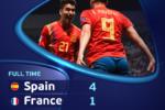 Spania A SURCLASAT Franța și s-a calificat în finala Euro U21, unde va juca împotriva Germaniei